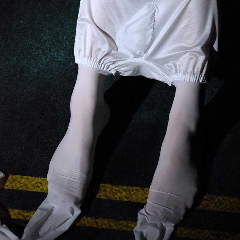 Man All-in-one Underwear Stockings Male Pantyhose Mens Thin Sexy Foot Fetish Gay Ice Silk Socks Tights Leggings Wetlook Lingerie
