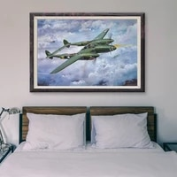 Peinture classique retro T006  35 affiches en soie personnalisees  operations de vol davion de guerre  Art mural de decoration pour la maison  cadeau de noel