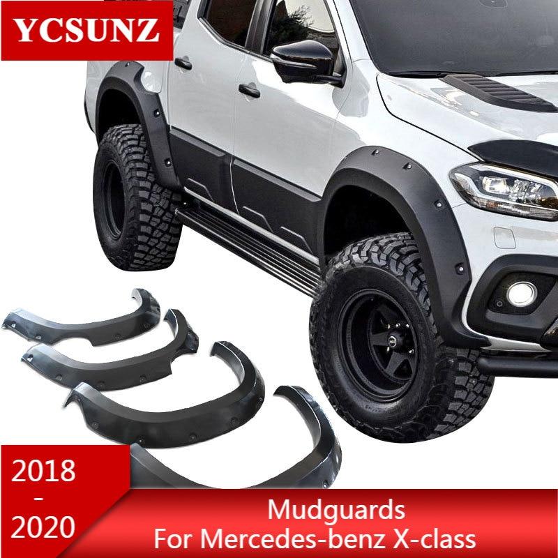 واقيات الطين المعدلة ABS ، قوس العجلة ، لمرسيدس بنز X-class 2018 2019 ، غطاء خزان مزدوج ، تصميم سيارة جديدة YCSUNZ