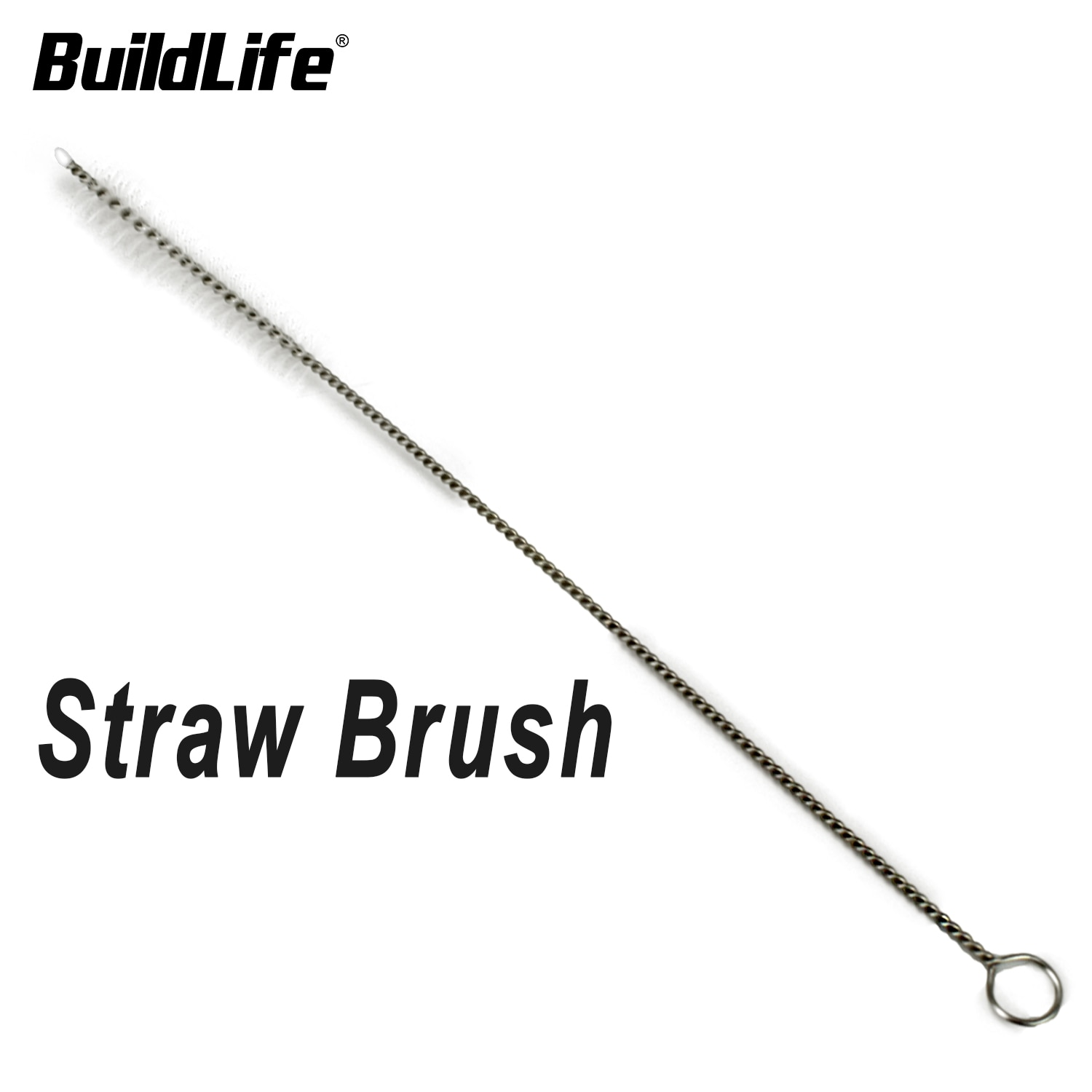 BuildLife Water Bottle Straw Cleaning Brush for Washing Glass Silicone Metal Straws Tea Pot Spout