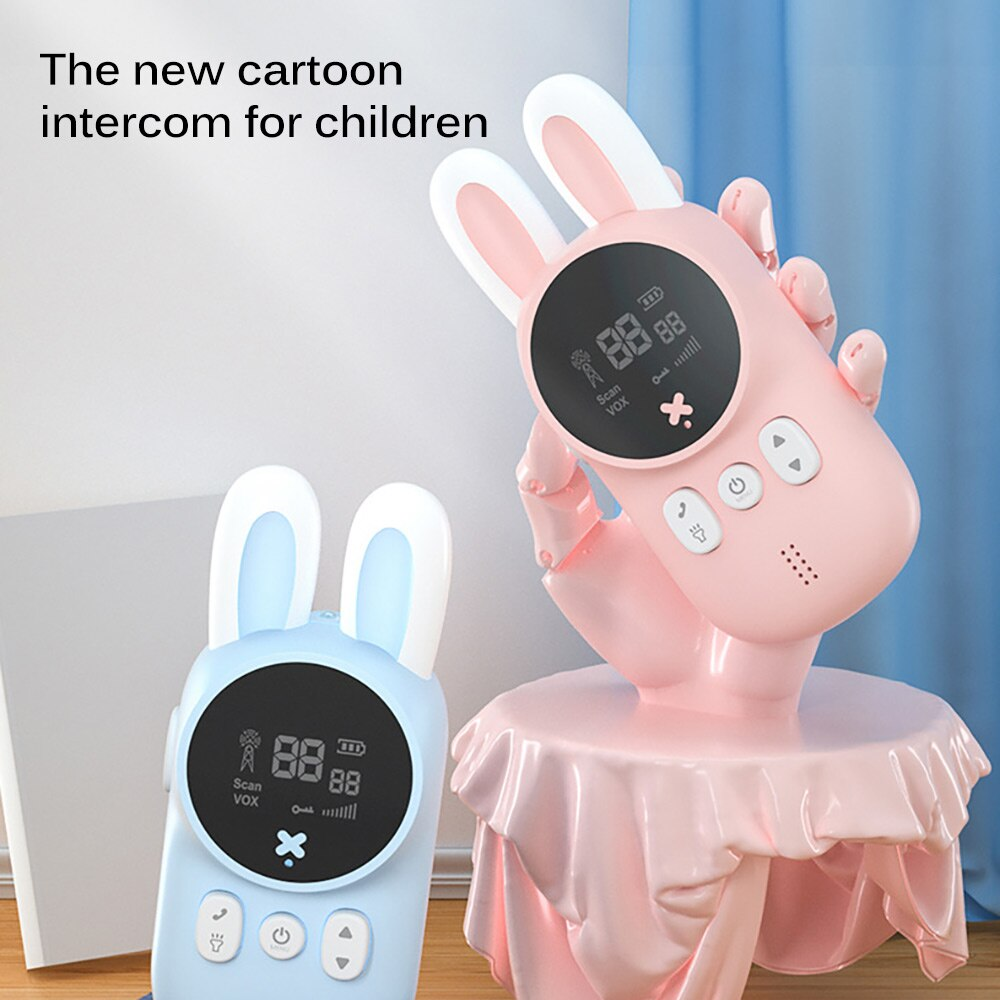 Kid Phone Electronic Wireless Walkie Talkie Toy For Children Portable Long Reception Distance Education Intercom Talking Machine