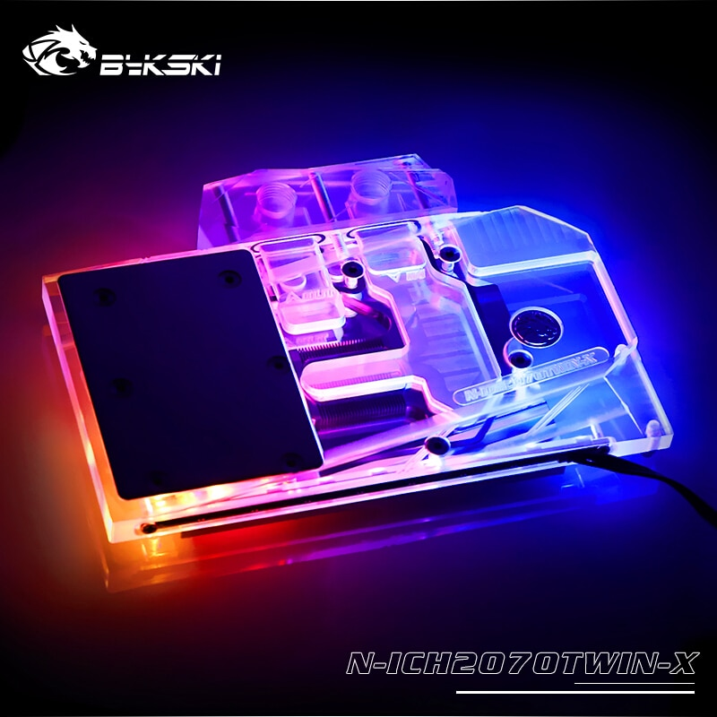Bloque de agua GPU de cobertura total Bykski N-ICH2070TWIN-X para INNO3D GEFORCE RTX 2070 TWIN X2/RTX 2060 Super disipador térmico tarjeta gráfica