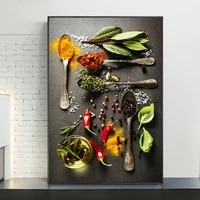 herbs and spices kitchen decor art paintings on the wall art posters and prints still life of herbs art pictures home decor