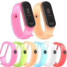 Half Transparent Silicone sport loop strap For Xiaomi Mi Band 3 Wrist band Smart watch Accessories Bracelet For Xiaomi Mi Band 4