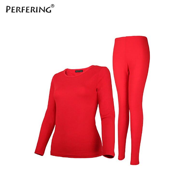 Perfering 2 piezas de talla grande 6XL ropa interior térmica ropas de invierno para mujer traje cálido largo Johns mujeres tamaño grande 2XL 3XL 4XL 5XL
