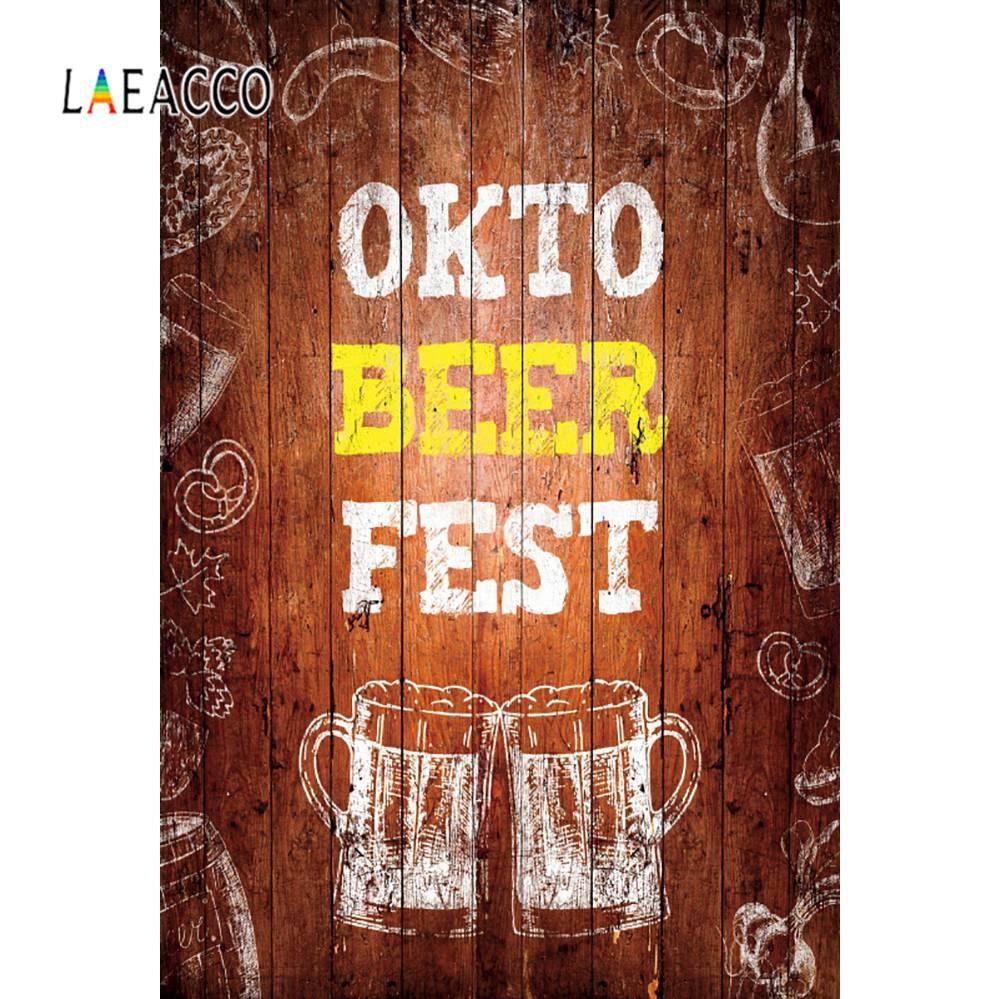 Laeacco, tablero de madera antiguo, póster de Fiesta de La Cerveza de la Oktoberfest de monodén, Fondo de fotografía con patrón Grunge, Fondo para fotografía, fotocall