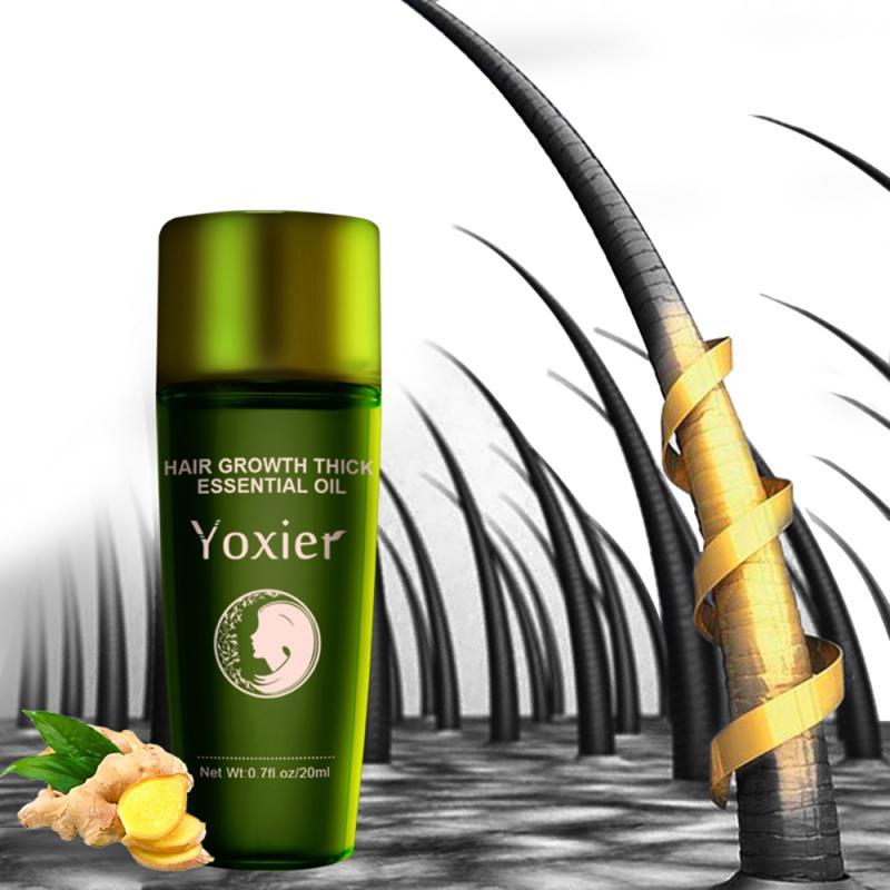 Crescimento do cabelo de ervas óleo essencial de alta qualidade shampoo estilo do cabelo perda de cabelo produto grosso rápido reparação crescente tratamento líquido