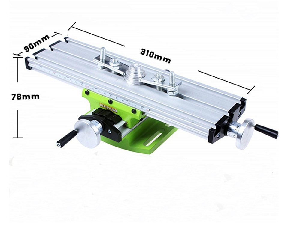 Multifunción mini tornillo de banco de mesa Banco taladro fresadora stent 6300 aleación de aluminio precisión 0,05mm