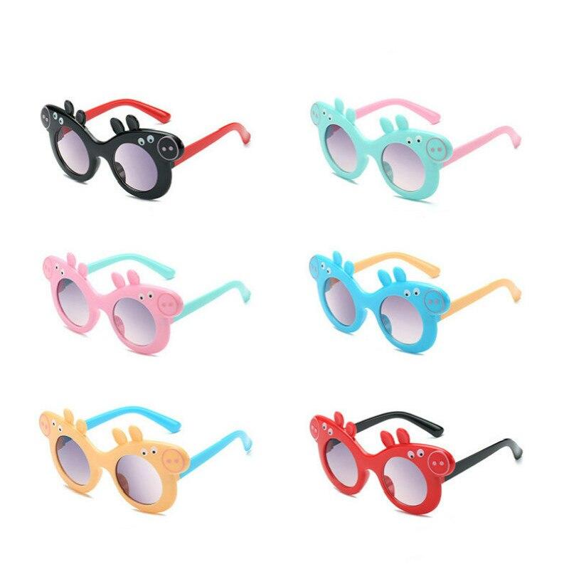 Cerdo Peppa George gafas de sol de los niños protección UV verano gafas de dibujos animados lindo al aire libre gafas de 3-8 años de edad regalos de fiesta