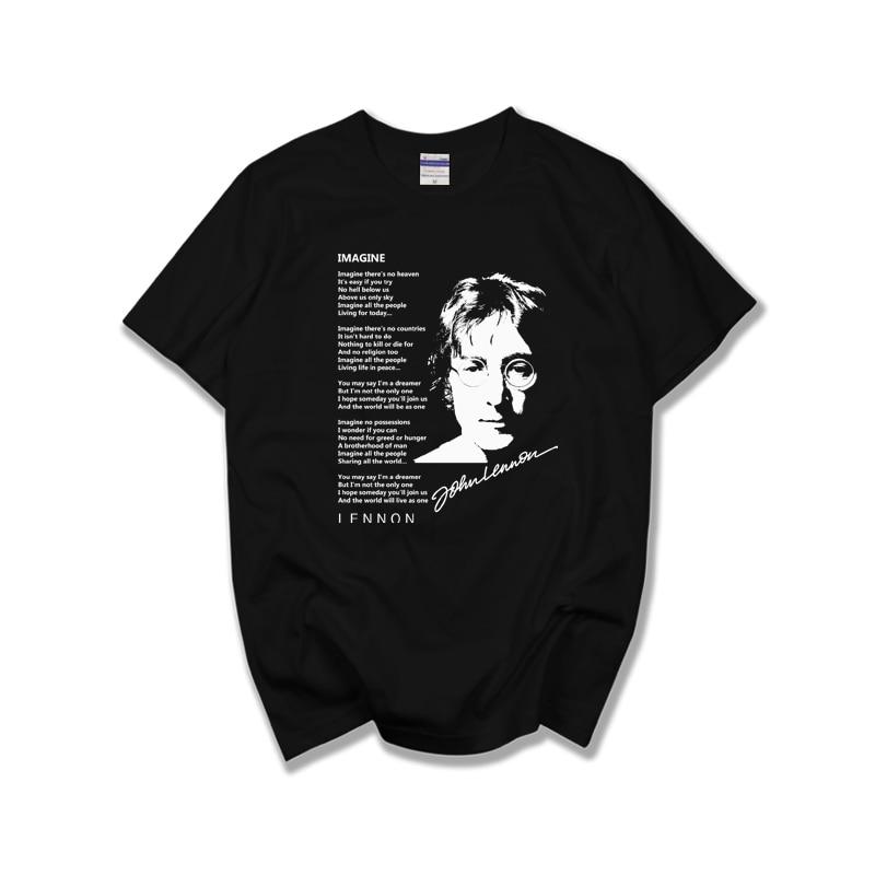 John Lennon IMAGINE  t shirt tshirts short sleeve male female top classic rock band uk