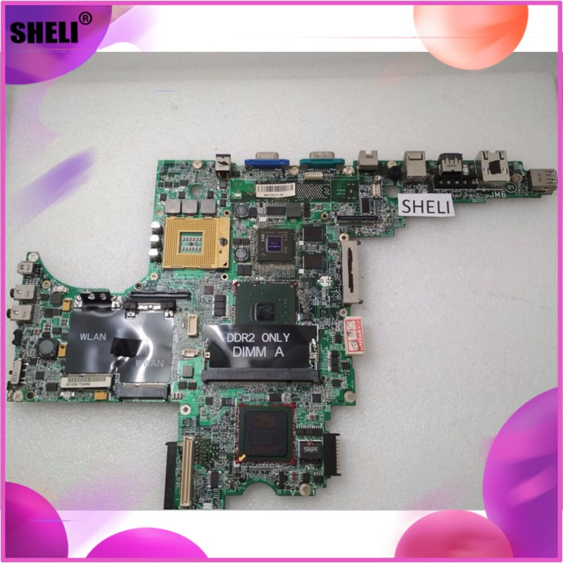 SHELI CN-0F566K F566K CN-0D687K D687K para Dell D820 placa base