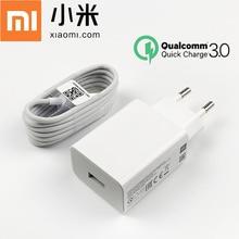 Chargeur rapide dorigine Xiaomi QC 3.0 adaptateur de Charge câble Usb type c pour Mi 8 9 se 9 T pro 10 lite A3 Max 3 Redmi note 7 8 9 pro
