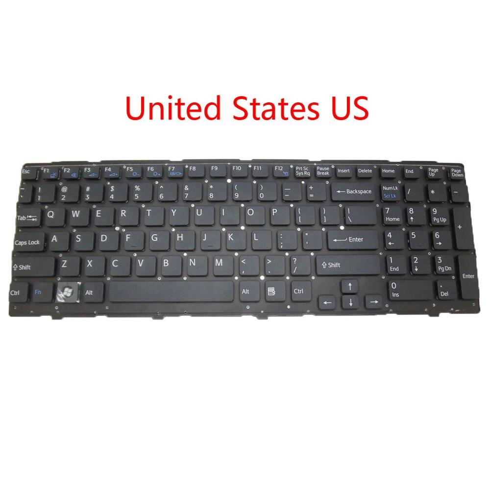 Laptop US RU AR KR GK LA teclado para SONY VPC-EH VPCEH Latino Rusia inglés Arabia Corea Grecia negro sin marco nuevo