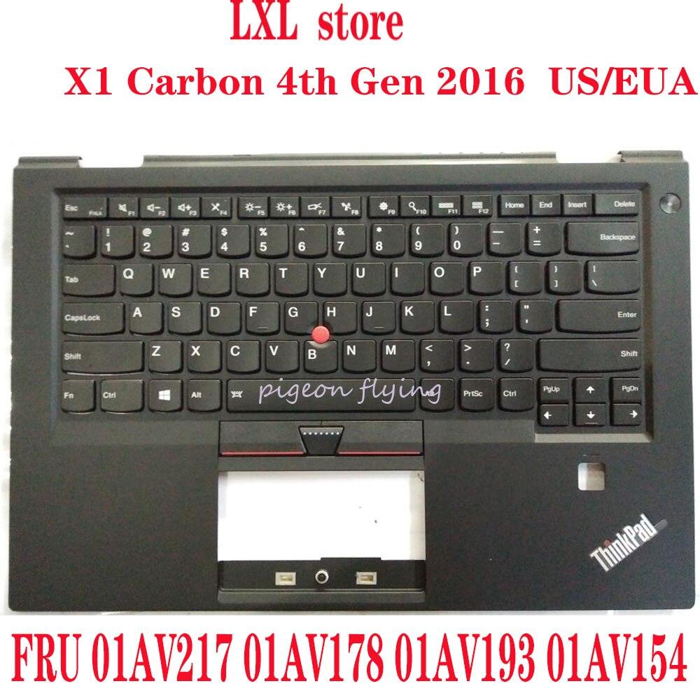 لوحة مفاتيح X1 كربون 20FB, 20FC for Thinkpad 2016 4th Gen مع c-cover EUA US FRU 01AV217 01AV178 01AV193 01AV154 100% test OK