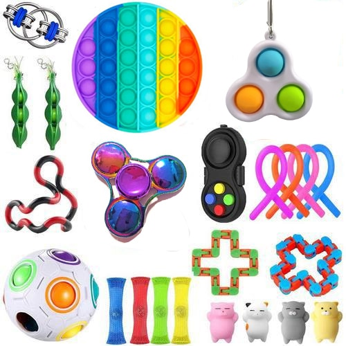 Fidget Toys 20/21/22PCS Pack Sensory Toy Set Antistress Relief  Autism Anxiety Anti Stress  Bubble for Kids Adults