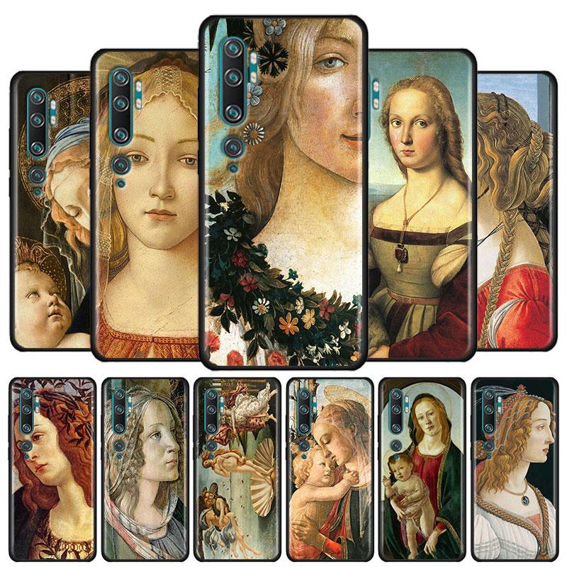 Capa macia para xiaomi mi 9 9t 10 lite nota 10 pro 9 se redmi nota 8 8t 9 s 9 pro capa sandro botticelli arte renascentista casos