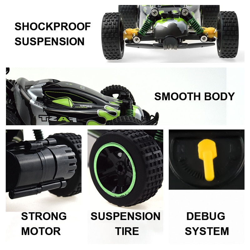 Sinovan RC Car 20km/h High Speed Car Radio Controled Machine 1:18 Remote Control Car Toys For Children Kids Gifts RC Drift enlarge
