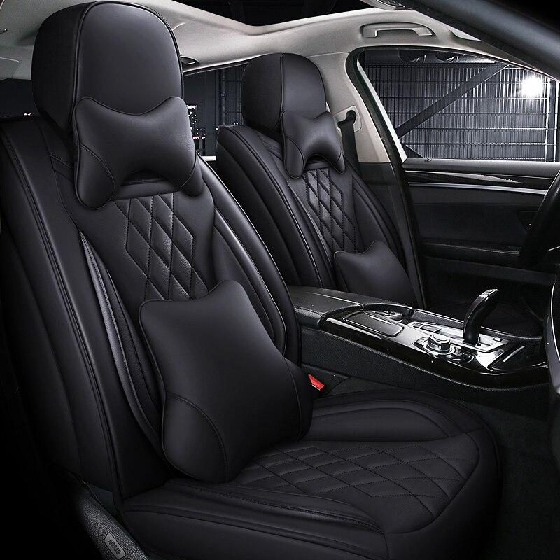 Full Coverage Eco-leather auto seats covers PU Leather Car Seat Covers for Kia morning picanto rio cerato soul seed optima
