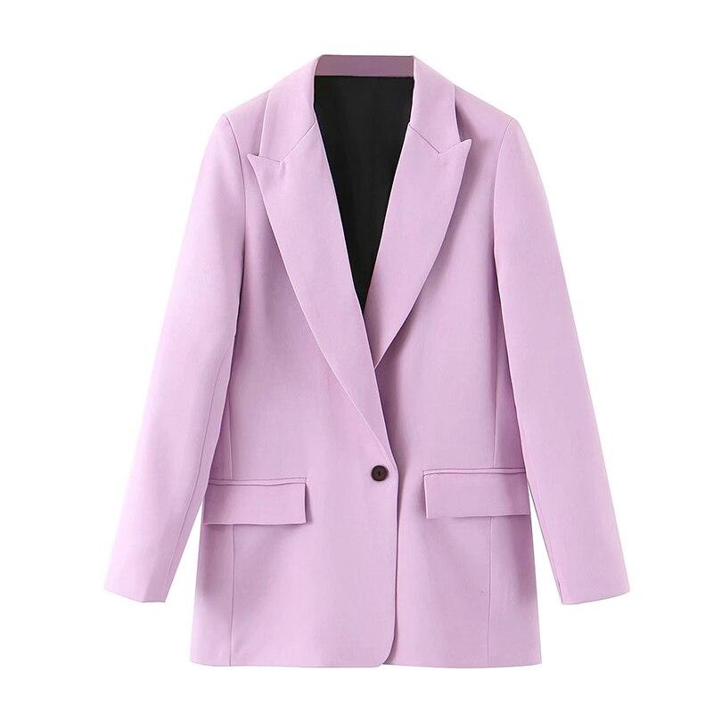 Vadim mujeres 2020 moda Oficina desgaste bolsillos Blazers abrigo otoño Vintage cuello entallado manga larga Mujer prendas de vestir exteriores Chic Tops