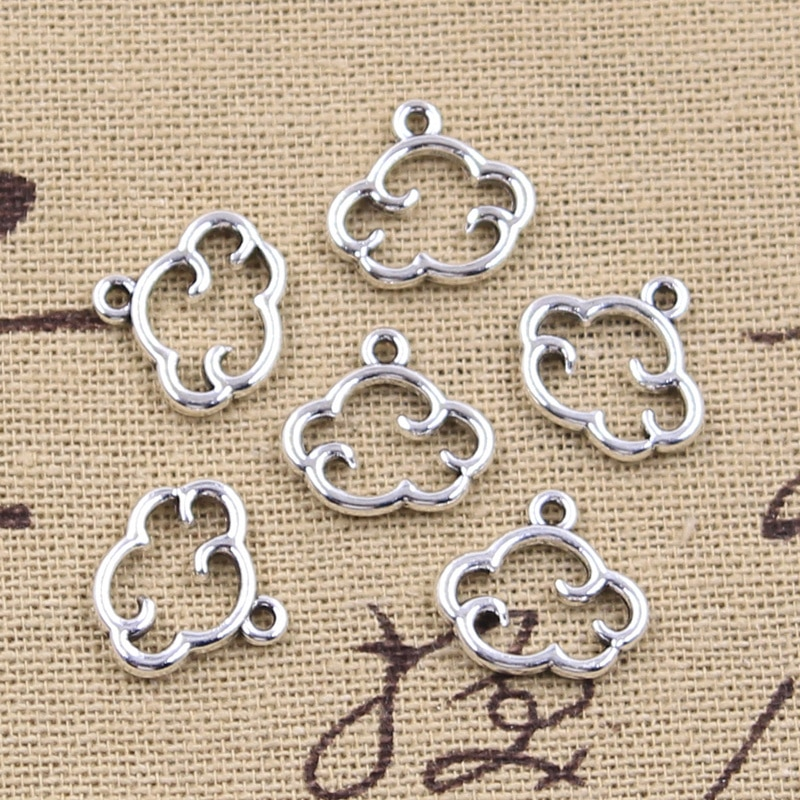 aliexpress.com - 30pcs Charms Floating Clouds 13x15mm Antique Silver Color Pendants Making DIY Handmade Tibetan Finding Jewelry