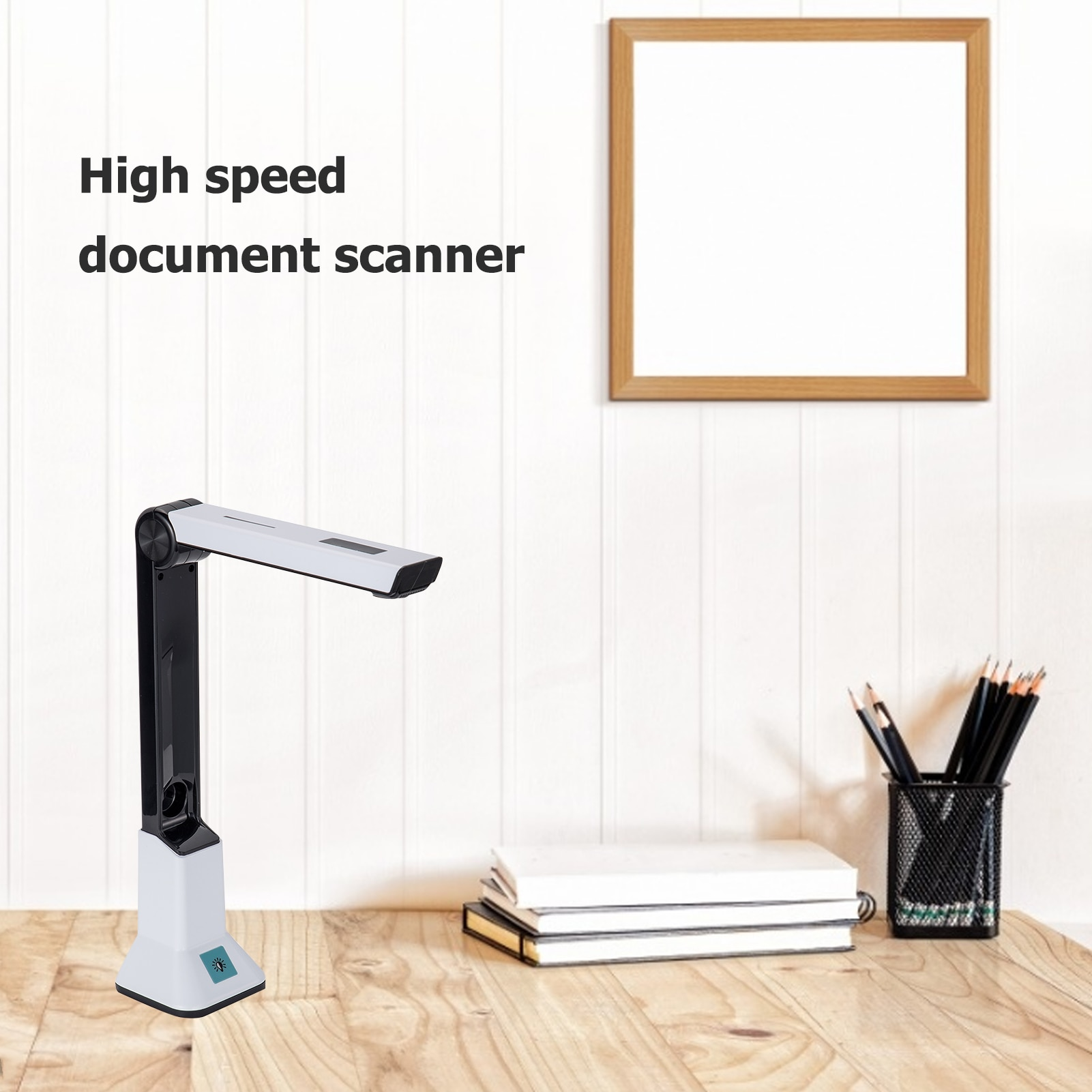 USB 2.0 مريحة 8 مليون بكسل A4 تنسيق عالية الوضوح وثيقة عالية السرعة الماسح الضوئي كاميرا للمستندات قوس