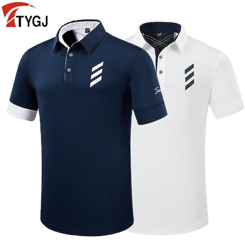 Camiseta PGM Golf para hombre, camisetas de verano de manga corta para hombre, uniformes elásticos transpirables, ropa de Golf, talla M-XXL