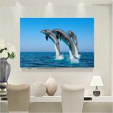 Diamond Mosaic crystal dolphin in the sea Needlework Diamond Embroidery Home Decor Painting Handicraft