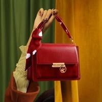 bowknot handle handbag for women 2020 new fashion one shoulder messenger bag ladies cowhide leather small square bag louis brand