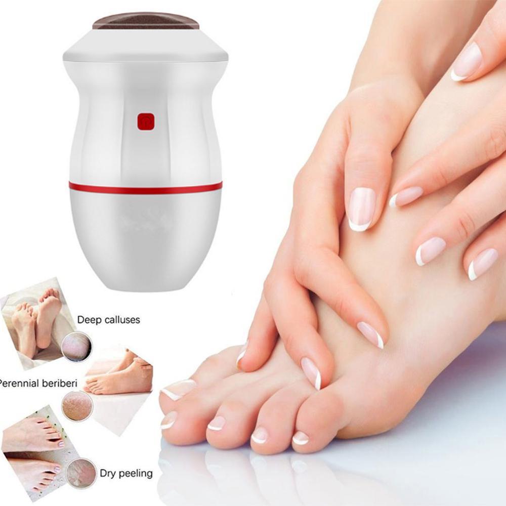 Перезаряжаемая электрическая Шлифовальная Пилка Для ног, вакуумный прибор для удаления огрубевшей кожи и мозолей, инструменты для педикюр...