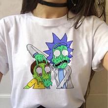 Рик и Морти забавная мультяшная футболка для женщин Harajuku Ricky N Morty Ullzang футболка 90s графическая футболка модные футболки для женщин