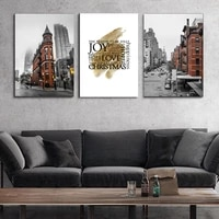 europe street landscape wall art canvas paintings vintage city wall art prints and posters living room buildings home decor