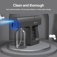 new garden accessories 300ml blue light wireless nano steam atomizer fogger disinfection water sprayer machine steam spray guns