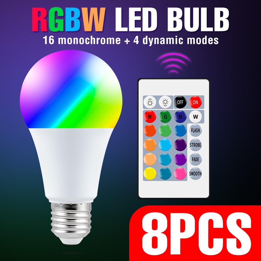 Bombilla LED RGB E27 para decoración del hogar, 5W, 10W, 15W, RGBW,...