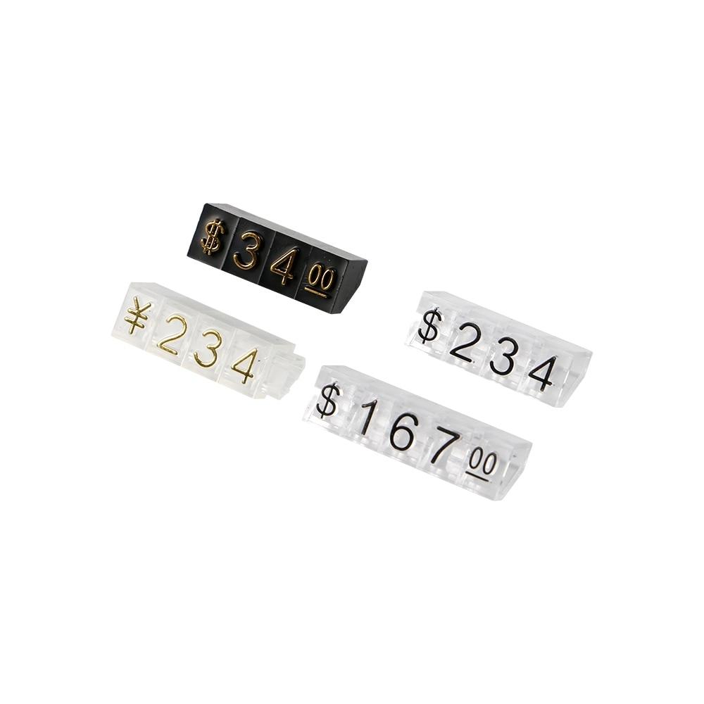 Доллары, цифровой дисплей, ярлык, цена, кубики с цифрами Crystal
