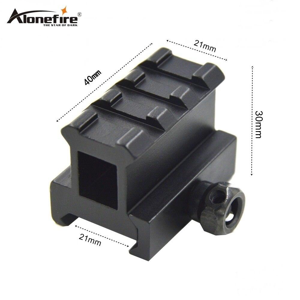 Alonefire D0015 przedłużenie adaptera szyna 21mm Weaver Airsoft Rifle Shot gun laser Scope rail jaskółczy ogon podstawa przedłużenie szyny