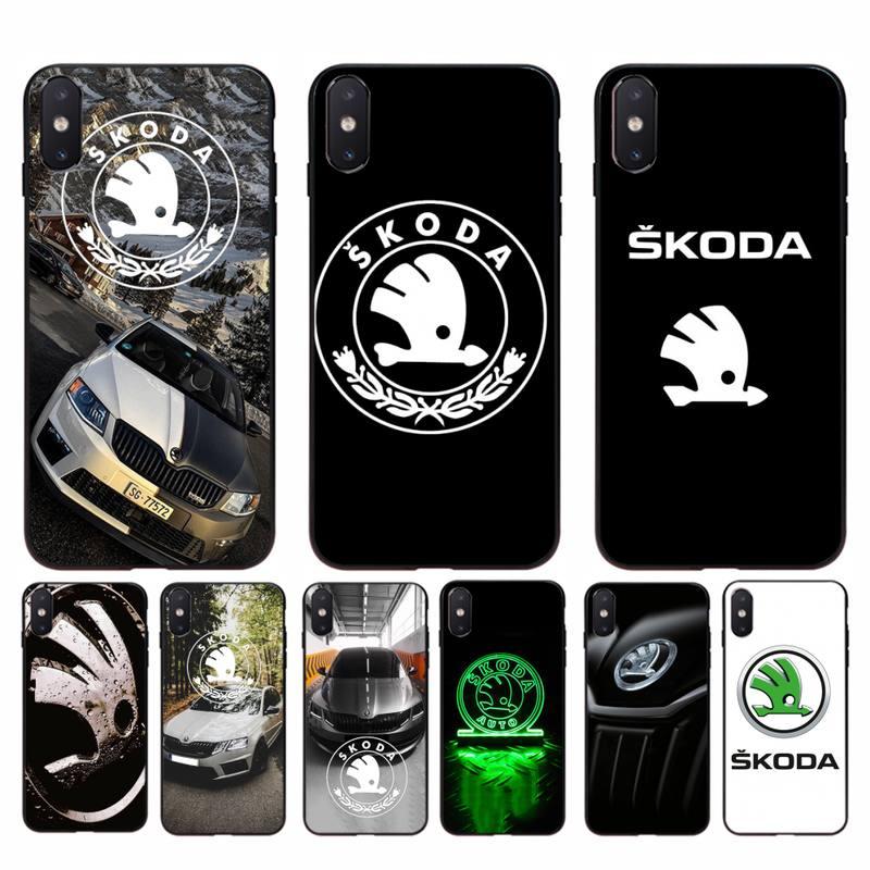 Babaite Super Skoda logotipo coche Bling lindo teléfono caso para iphone 11 Pro Max X XS X máx. 6s 6 7 8 plus 5 5S 5SE XR SE2020