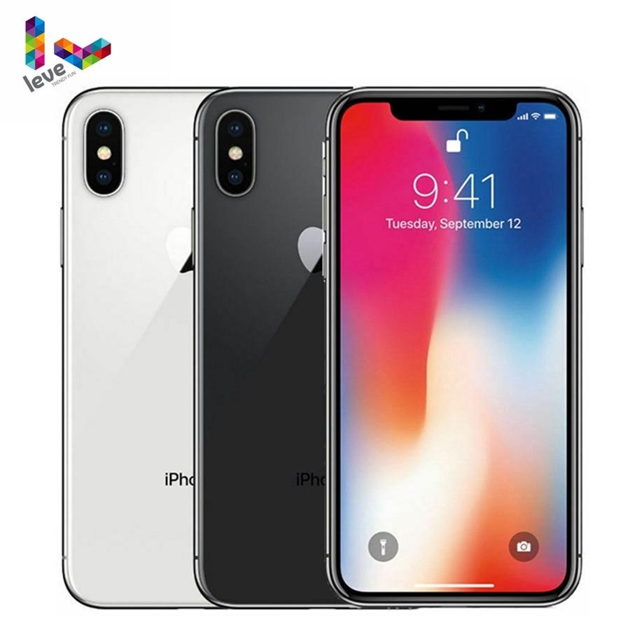 Оригинальный разблокированный телефон Apple iPhone X, сканер лица, 4G LTE, iOS, 64 ГБ/256 Гб ПЗУ, 3 Гб ОЗУ, шестиядерный процессор, экран 5,8 дюйма, двойная ты...