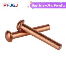Peng Fa GB867  Copper Rivet Pan Head Solid Rivets Brass Half Round Solid Rivet Cap Nail M1.5M2M2.5M3M4M5M6M8