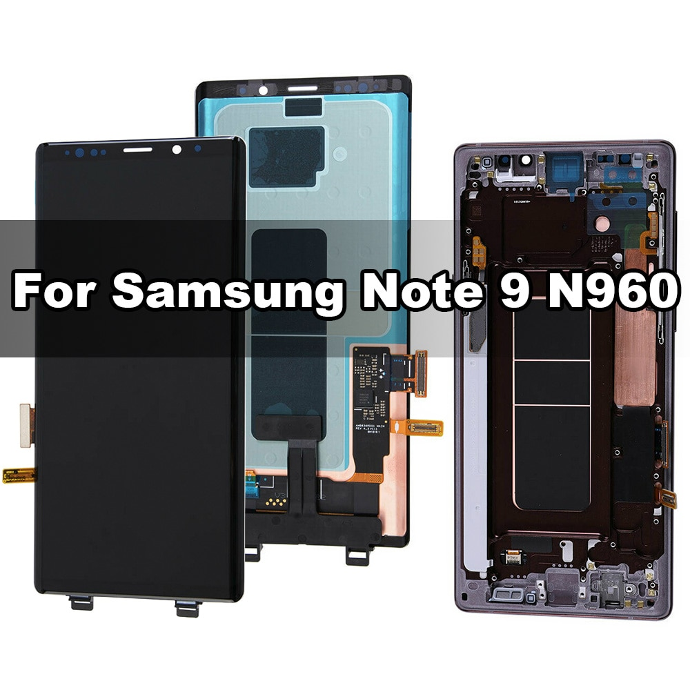 Original AMOLED for Samsung Galaxy Note 9 N960F LCD Display with Touch Digitizer and Frame Assembly Replacement 100% Tested