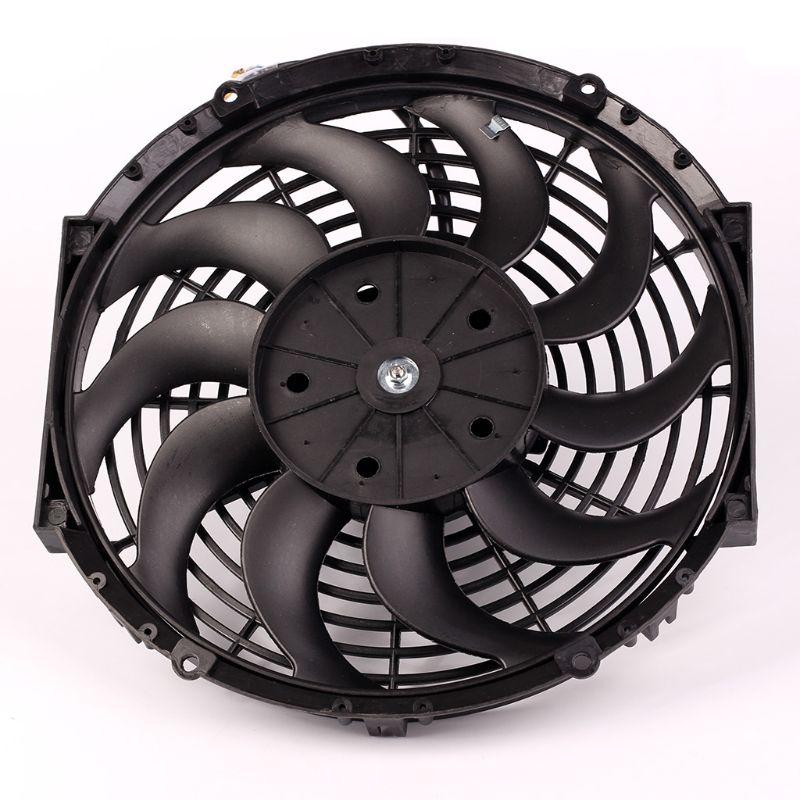 10inch 12inch 14inch Universal Car Radiator Fan Slim Push Pull Electric Engine Cooling Fan 12V