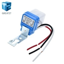 GREATZT  Automatic Auto On Off Photocell Street Light Switch DC AC 220V 50-60Hz 10A Photo Control Photoswitch Sensor Switch