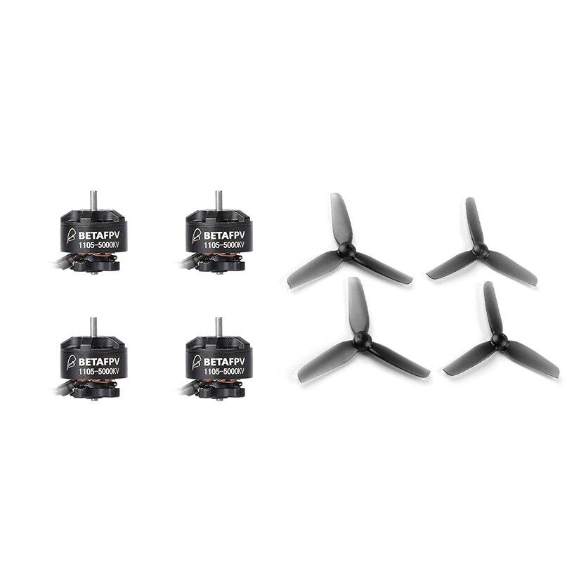 BETAFPV 1105 5000KV 4S silniki bezszczotkowe z 3018 3x1.8 3 Cal 2 wiosło 1.5mm otwór PC śmigło dla FPV Racing Drone Quadcopter