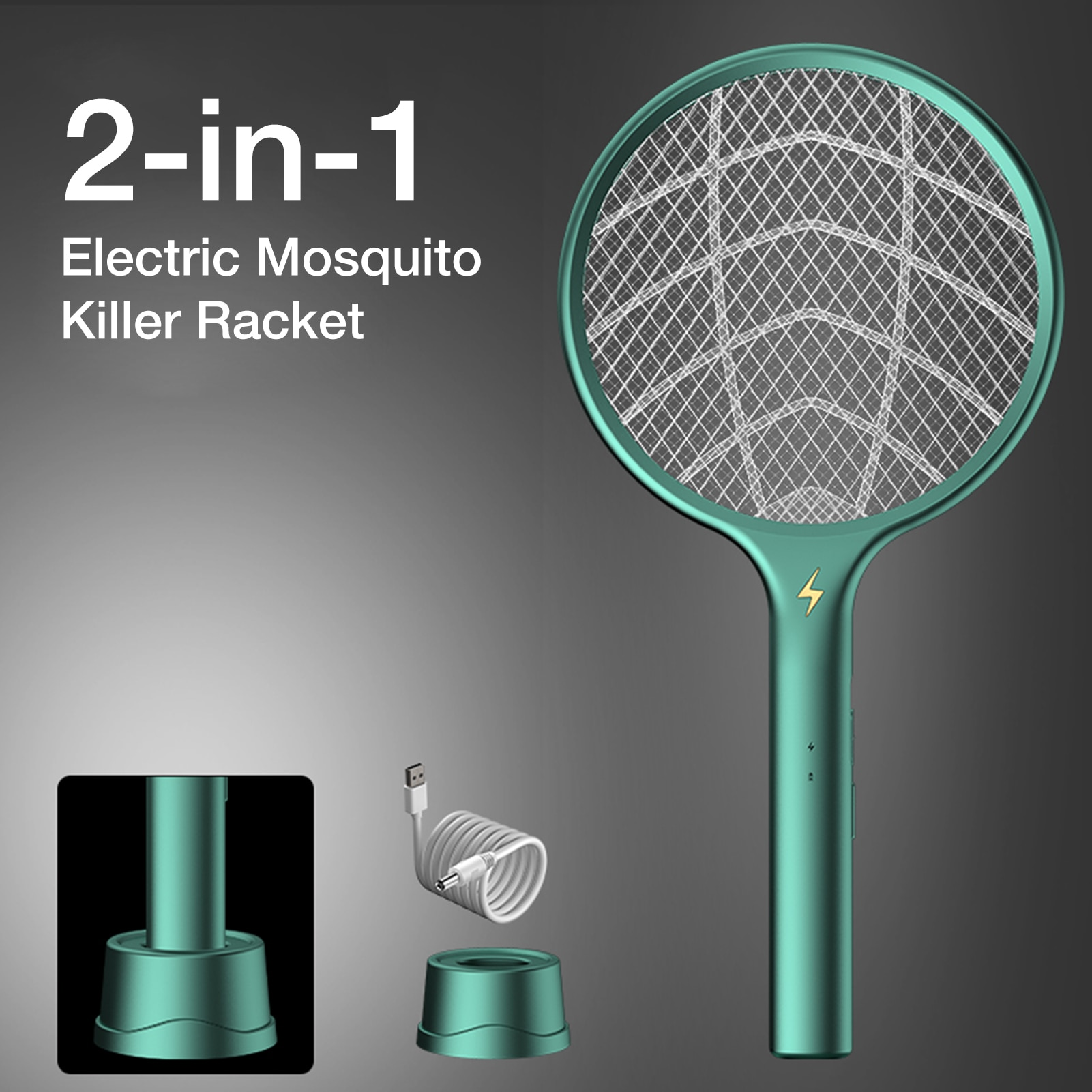electric mosquito killer swatter home pest control handheld mosquito racket insect bug racket zapper fly mosquito killer trap Electric Mosquito Killer Racket USB Fly Trap Lamp Home Bug Insect Swatter Zapper Pest Control 1200mAh