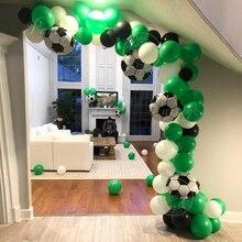 Kit guirlande de ballons en Latex 87 pièces/ensemble arc de Football   Kit de ballons verts pour fête danniversaire et thème de garçon, fournitures de fête