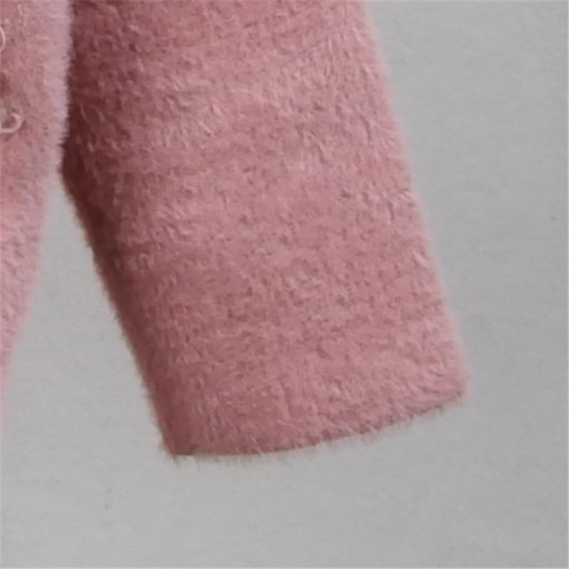 High Quality Fashion imitation mink fur cardigan velvet Jacket Women's Winter New thick warm short plush Coat Autumn Outerwear enlarge