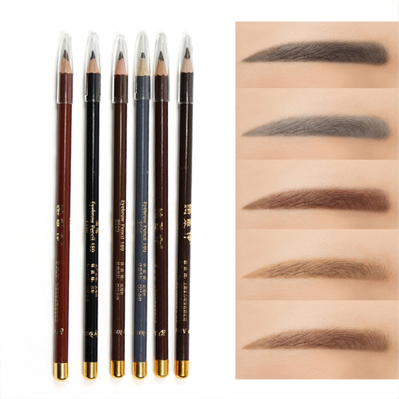 1pc Natural Classic Eyebrow Pencil Waterproof Sweatproof Long Lasting Easy To Color Eye Brow Tattoo