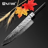 xituo high quality 8diy knife blank blade 67 layers damascus steel kitchen knife blank japan chef knife utility cooking tools