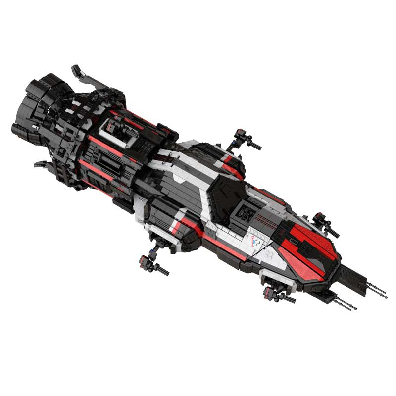 MOC بنة سفينة الفضاء الفضائية عالية التقنية الإبداعية سلسلة دمى هدايا Rocinante نموذج سفينة الفضاء
