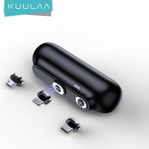 Магнитный внешний аккумулятор KUULAA на 2600 мАч, магнитное мини-зарядное устройство, внешний аккумулятор для экстренного мобильного телефона Xiaomi, портативная Магнитная Внешняя батарея