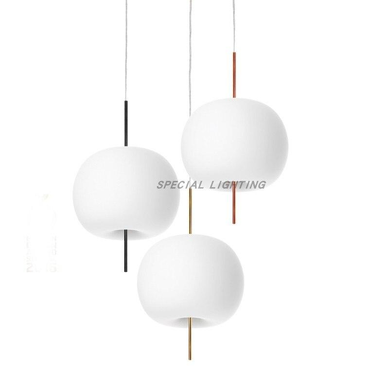 Review Nordic Apple Restaurant Chandelier Designer Bar Chain Cafe Nordic Simple Bedroom Bedside Glass Chandelier